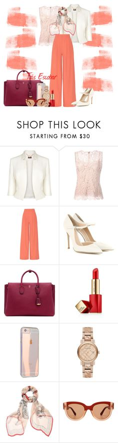 """""""Light colors ...Go work !! ✨"""" by tais-escobar ❤ liked on Polyvore featuring Phase Eight, Dolce&Gabbana, Alice + Olivia, Gianvito Rossi, MCM, Estée Lauder, Burberry, Alexander McQueen and Marni"""