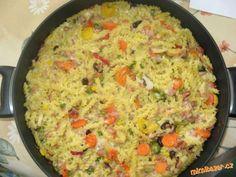 •♥• Výborné zapečené těstoviny s nivovou omáčkou šunkou a zeleninou •♥•