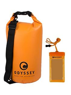 Odyssey 10L Orange Waterproof Dry Bag  Roll Top Dry Compression Sack Keeps Gear Dry for Kayaking Beach Rafting Boating Hiking Camping and Fishing with Free Waterproof Phone Case *** Click image to review more details.Note:It is affiliate link to Amazon.
