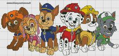 Paw patrol plastic canvas patterns toys figures clothes skye birthday gifts everest toy marshall zuma vehicles games ideas chase truck tracker new slippers rocky pajamas racers rubble ryder sale de… Cross Stitch For Kids, Cross Stitch Baby, Cross Stitch Charts, Cross Stitch Patterns, Crochet Patterns, Crochet Afghans, Paw Patrol, Puppy Patrol, Crochet Pixel