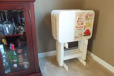 functional & deliciously vintage. recreated from old tv trays!