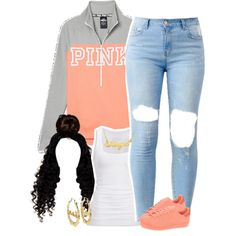 A fashion look from July 2016 featuring American Eagle Outfitters tops, Victoria's Secret PINK and Disney Couture earrings. Browse and shop related looks.