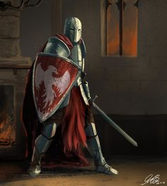 Commission Knight Painting by Entar0178.deviantart.com on @DeviantArt