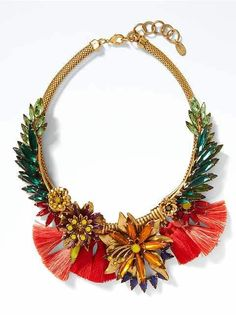 Put the finishing touches on an amazing look with necklaces for women from Banana Republic. Find a new necklace today. Tassel Jewelry, Crystal Jewelry, Tassel Necklace, Beaded Jewelry, Jewelry Necklaces, Statement Necklaces, Necklace Chain, Gold Jewellery, Jewelry Shop