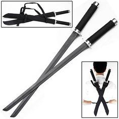 Ninja Strike Force Twin Sword Set w/ Backstrap 18 inch blade - 25 in… Zombie Weapons, Ninja Weapons, Swords And Daggers, Knives And Swords, Armadura Ninja, Bushido, Ninja Gear, Ninja Sword, Armas Ninja