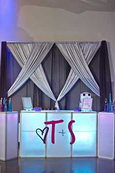 Real Wedding | Tara +  Spencer - Radiant Orchid - a Custom made snow cone bar? Genius.