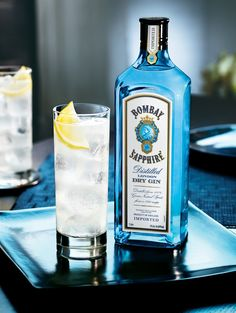 Bombay Sapphire G&T!  What I'm drinking when I'm not drinking beer. << Me too!