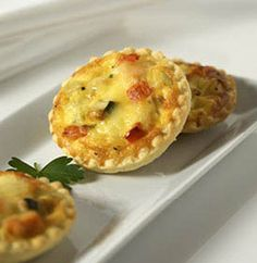 Mini Tasty Cheese And Roasted Vegetable Quiches