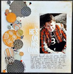 by Melanie Bauer general layout using scraps of sets of favorite papers