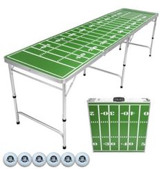 Every tailgate I've been to has featured beer pong, and this folding table makes it as easy as can be to play. It even comes with ping pong balls. You'll just need to provide the red cups, but let's be honest: There's no way you'd have a college football tailgate without plenty of cups! Floating Beer Pong Table, Custom Beer Pong Tables, Ping Pong Table, Outdoor Pool Table, Indoor Outdoor, Outdoor Games, Patio, Tailgate Table, Pong Game