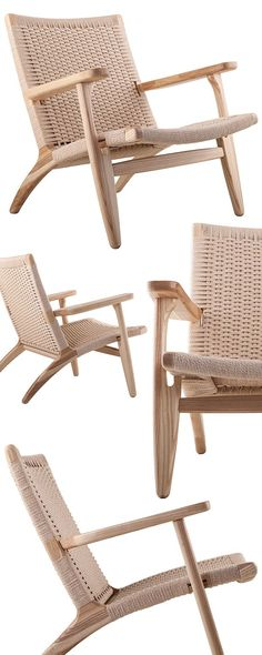 Combine your taste for modern design with your natural sensibilities with this stunning lounge chair. Featuring a rustic woven… Modern Chairs, Modern Furniture, Outdoor Furniture, Furniture Design, Masters Chair, Lounge Chair, Cool Chairs, Mid Century Furniture, Living Room Chairs