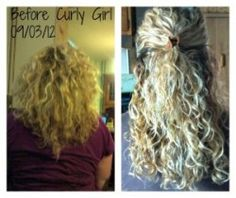 before after the curly girl method - great info!
