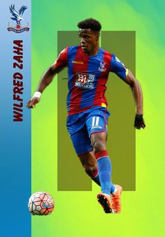 Wilfried Zaha of Crystal Palace in Crystal Palace Fc, Football Players, Messi, Baseball Cards, Fictional Characters, European Football, Recipes, Soccer Players