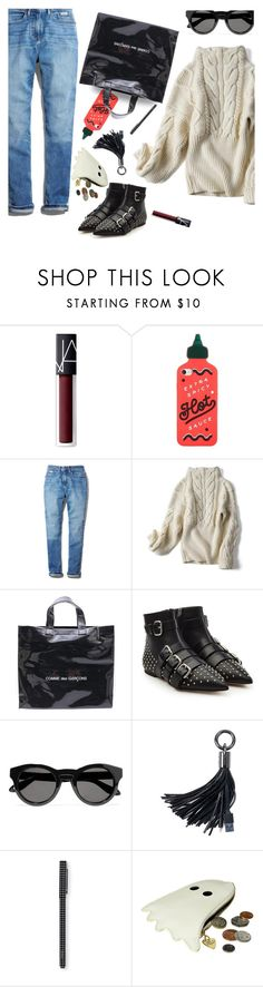"""that awkward moment..."" by gabrielleleroy ❤ liked on Polyvore featuring NARS Cosmetics, ban.do, Calvin Klein, Comme des Garçons, RED Valentino, Givenchy and Tatty Devine"