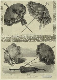 Parasols Ad, July 31, 1875 from the New York Public Library Picture Collection Online: many additional umbrella and parasol images on file!
