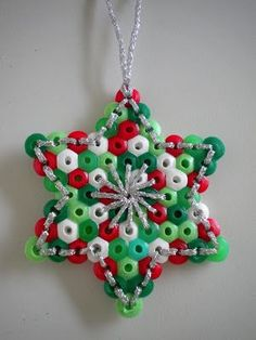 hama beads and embrodery ornament
