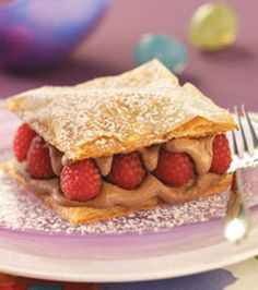 Chocolate Raspberry Napoleons Recipe