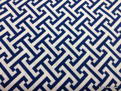 Geometric Cross Motif Navy Blue White Pattern curtains?