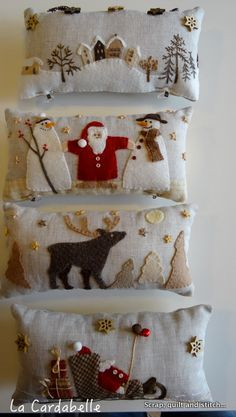 Scrap,quilt and stitch, fill small pillows with aromatics like fir needles or lavender