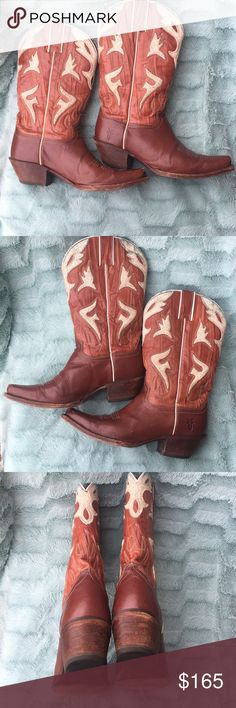 FRYE Authentic FRYE leather womens Boots Size 8B. Made in Mexico. Minor signs of wear as shown on pictures. In good condition Frye Shoes Combat & Moto Boots