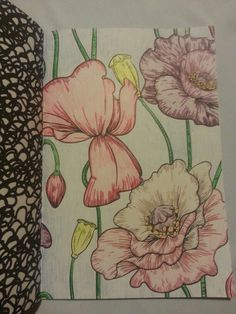 Coloring for adults, flowers. Made by me