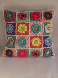 Crochet Flower Cushion (with pattern link) - CROCHET