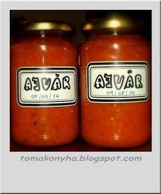 Tomakonyha: Ajvár Ketchup, Pesto, Salsa, Cooking Recipes, Jar, Homemade, Foods, Drinks, Food Food