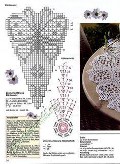 "Photo from album ""FiletHakeln on Yandex. Crochet Butterfly Pattern, Crochet Circles, Crochet Doily Patterns, Thread Crochet, Crochet Motif, Beading Patterns, Crochet Stitches, Knit Crochet, Crochet Dollies"