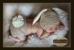 PDF PATTERN for Crocheted Baby Easter Bunny Hat and Diaper Cover set   Instructions for newborn to 12 months  Sell what you make on Etsy, $5.99