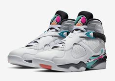 1b26a3cdbfb06a The Air Jordan 8 South Beach (Style Code  in White White-Turbo Green-Multi-Color  with Turbo Green and Hot Pink accents. A release date is set