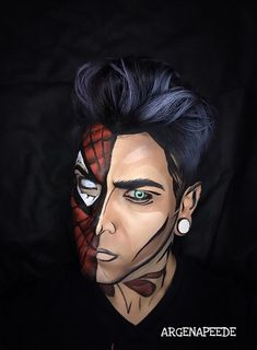 Artist Uses Body Paint to Transform Himself into Living Comic Book Characters - My Modern Met