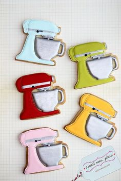 KitchenAid Mixer Cookies & I love them! The sewing maching cookie cutter is what you can use I believe.
