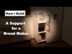 This is a small tutorial how to build a small cabinet for a small kitchen appliance or anything else you want to store on it. In my case I need a small suppo. Old Cabinet Doors, Old Cabinets, Small Cabinet, Kitchen Cabinets, Small Kitchen Appliances, Particle Board, Top Freezer Refrigerator, Countertops, Diy Projects