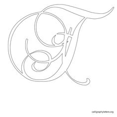 Calligraphy Letter Stencil T