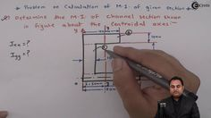 Learn Online   Problem on Calculation of Moment of Inertia for given Sec...