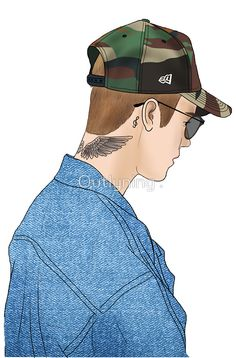Justin Bieber Drawing  by Outlyning Designs