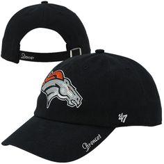 Women's Denver Broncos '47 Brand Navy Sparkle Clean Up Adjustable Hat