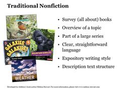 For a description: https://www.slj.com/2018/04/standards/understanding-teaching-five-kinds-nonfiction/