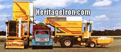 Self-propelled, self-contained Field Queen for large, commercial operations offers either side or rear dump! (Hesston Corporation) #HeritageIron #MuscleTractor