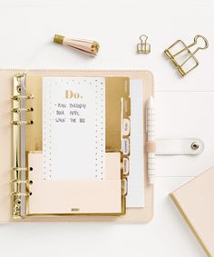 Be inspired to get organised with these ideas using your Pause Brushed Gold Leather Planner