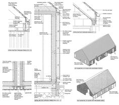 Gallery of Care Housing / Oliver Chapman Architects - 6 Detail Architecture, Plans Architecture, Architecture Drawings, Interior Architecture, Construction Drawings, Roof Detail, Timber Cladding, Passive House, Building Systems