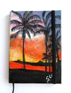 Handmade  Leather Journal cover  Hawaiian by ArtbreakJournals