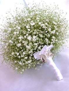 Baby's breath bouquet! Love!