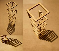 A project for my 3-D class. We were to create a sculpture that explored structure. My concept was to take an extremely basic implied shape, a rectangular prism, and utilize the principles of economy to suggest the 'missing links.' I wanted the shadow Teds Woodworking Review