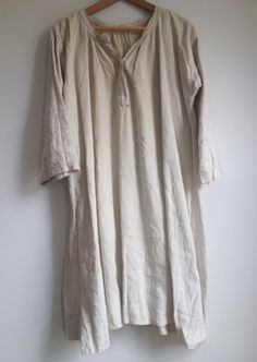 laws of general economy: Vintage French Linen Smock Dress