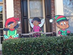 36 inch wooden african american christmas elf by mudpiesfordinner - African American Christmas Decorations