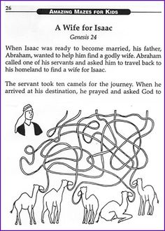 Genesis 24 Isaac and Rebekah Bible Bookmarks: The love