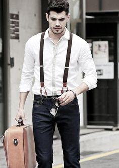 Wie trägt man Hosenträger mit Jeans für Männer - 30 Male Fashion Styles  #fashion #hosentrager #jeans #manner #styles #tragt