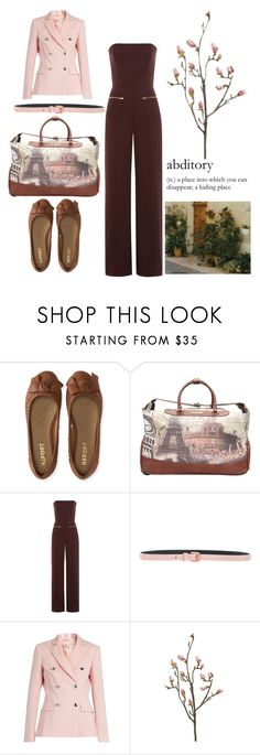 """hiding in brown and pink"" by rylock ❤ liked on Polyvore featuring Aéropostale, Nicole Lee, Maison Margiela, Cédric Charlier and Altuzarra"
