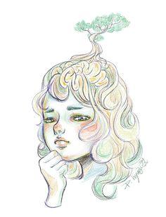 #켡 #일러스트 #illustration #illust #illustrator #artwork #artist #hyunz #drawing #braintree #girl # gloomy